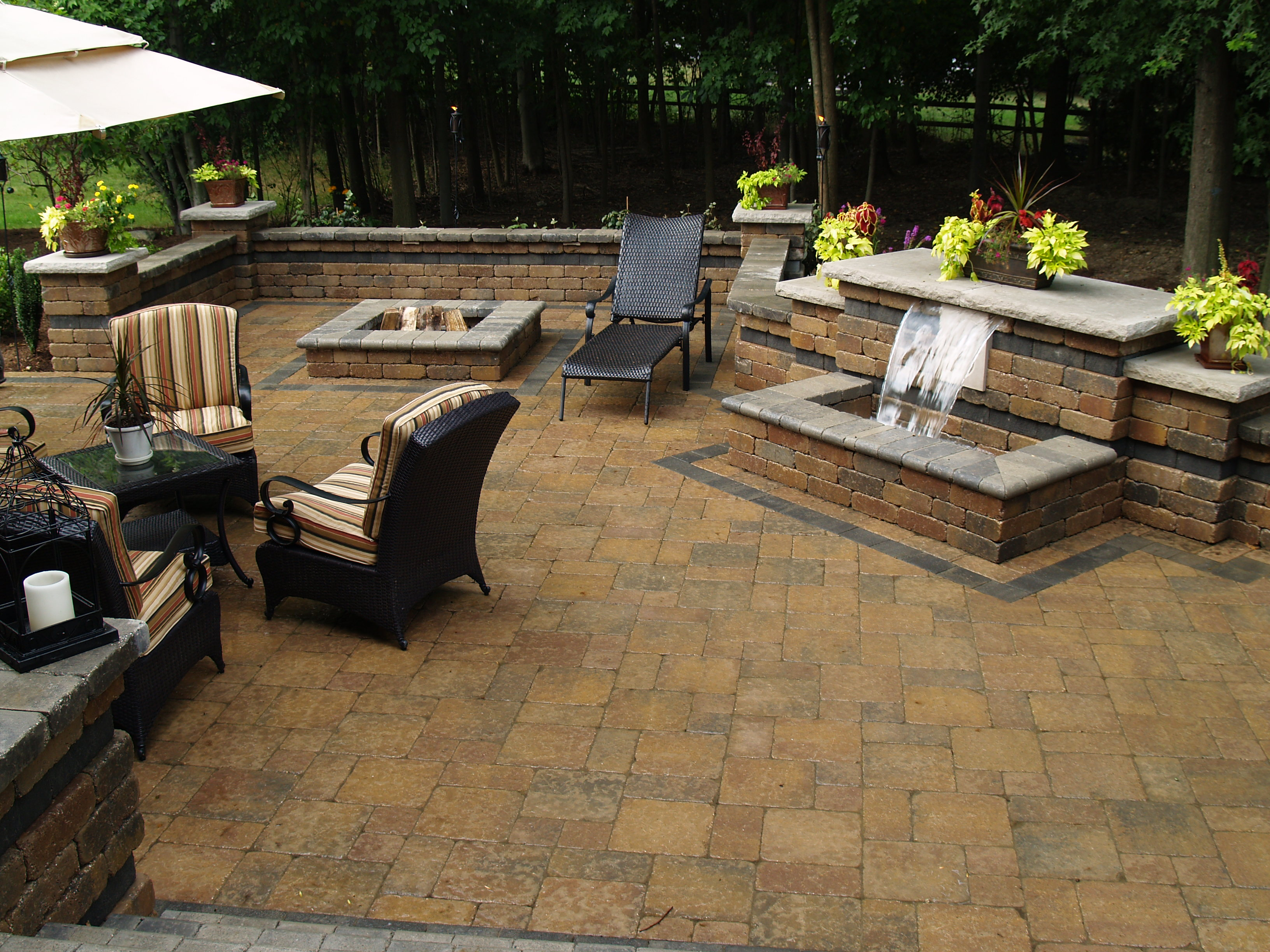 Natural stone paver entertaining areas Cutting Edge Landscape