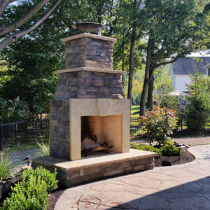 Outdoor Fireplaces Fire PitsCutting Edge Landscape Ohio
